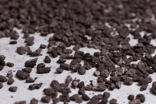 Carbon is made from organic material like coconut, coal or wood.